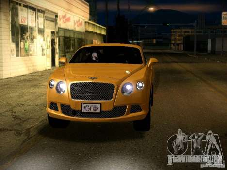 Bentley Continental GT 2011 для GTA San Andreas вид сверху