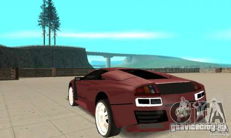 Lamborghini Murcielago Tuned для GTA San Andreas вид сзади слева
