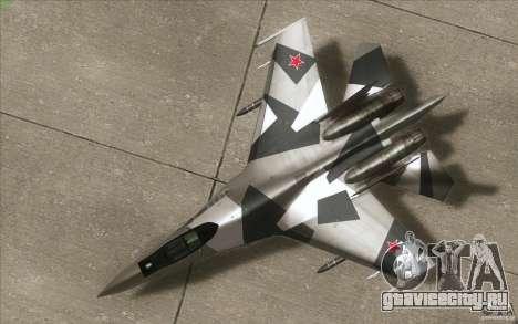 Су-35 БМ v2.0 для GTA San Andreas вид изнутри