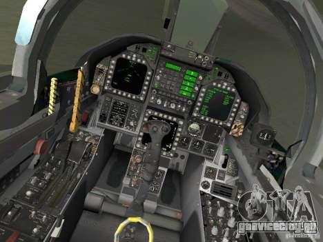 FA-18D Hornet для GTA San Andreas вид сзади