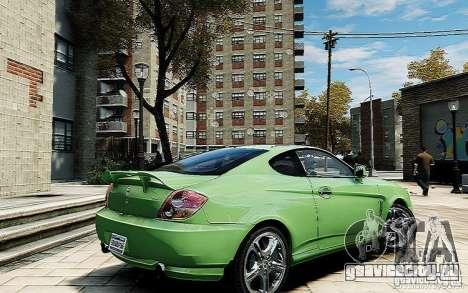 Hyundai Tuscani для GTA 4 вид сзади слева