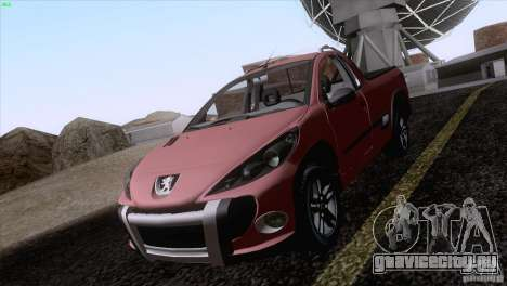 Peugeot Hoggar Escapade 2010 для GTA San Andreas вид сзади