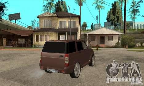 УАЗ Patriot для GTA San Andreas вид сзади