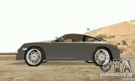 Porsche Carrera S 2009 для GTA San Andreas вид справа