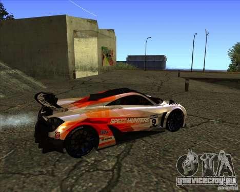 Pagani Huayra SHE для GTA San Andreas вид сзади слева
