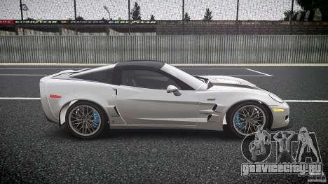 Chevrolet Corvette ZR1 2009 для GTA 4 вид изнутри