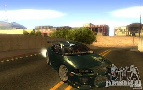Mitsubishi Eclipse DriftStyle для GTA San Andreas вид сзади