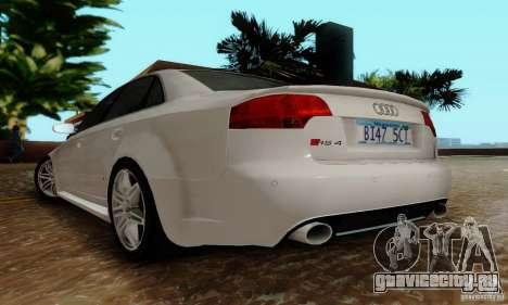 Audi RS4 2007 для GTA San Andreas вид сзади