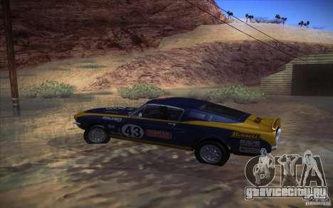 Shelby GT500 1967 для GTA San Andreas вид справа