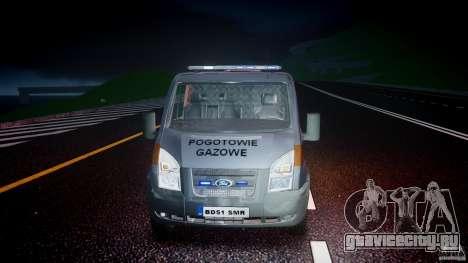 Ford Transit Usluga polski gazu [ELS] для GTA 4 вид сбоку