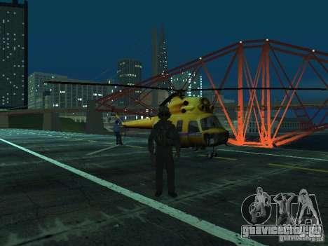 МИ-2 Милицейский для GTA San Andreas вид сзади