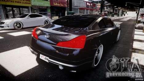 Infiniti G37 Sport 2008 JDM Tune (Beta) для GTA 4