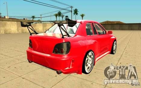 Subaru Impreza STI для GTA San Andreas вид сбоку