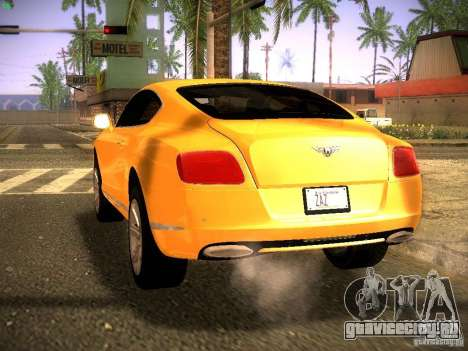 Bentley Continental GT 2011 для GTA San Andreas вид слева