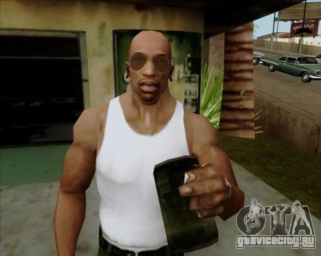 Коричневые очки Авиаторы для GTA San Andreas шестой скриншот
