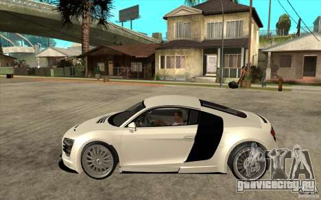 Audi R8 5.2 FSI custom для GTA San Andreas вид слева