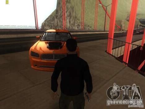 Dodge Charger From NFS CARBON для GTA San Andreas вид справа