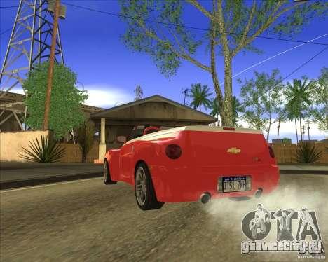 Chevrolet SSR для GTA San Andreas вид сзади слева