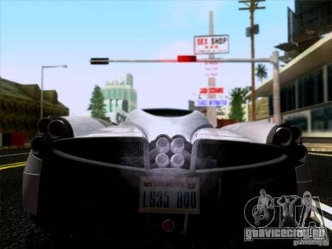Pagani Huayra 2011 для GTA San Andreas вид справа