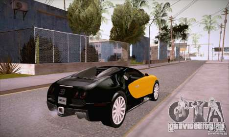 Bugatti Veyron 16.4 EB 2006 для GTA San Andreas вид справа