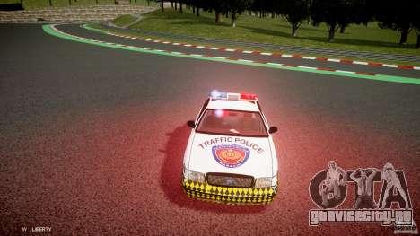 Ford Crown Victoria Karachi Traffic Police для GTA 4 вид изнутри