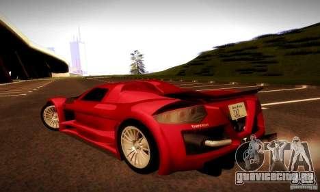 Gumpert Apollо для GTA San Andreas вид изнутри