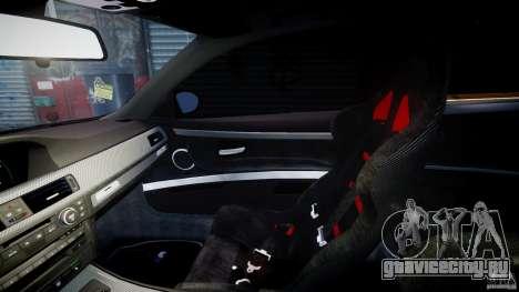 BMW M3 Hamann E92 для GTA 4 вид изнутри