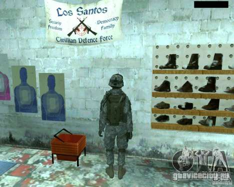 Скин пехотинца из CoD MW 2 для GTA San Andreas пятый скриншот