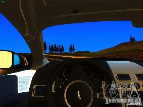 Aston Martin Virage 2011 Final для GTA San Andreas вид сзади слева