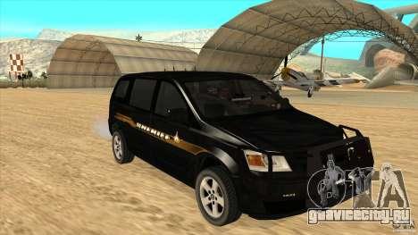 Dodge Caravan Sheriff 2008 для GTA San Andreas вид сзади