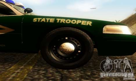 Ford Crown Victoria New Hampshire Police для GTA San Andreas вид справа