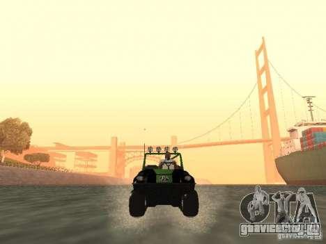 Вездеход Argo Avenger для GTA San Andreas вид сзади
