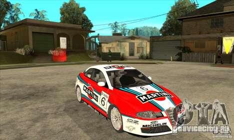 Alfa Romeo GT для GTA San Andreas вид сзади