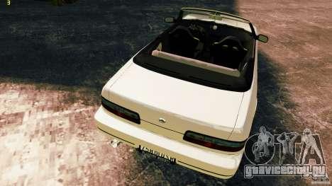 Nissan Silvia S13 Cabrio для GTA 4 вид изнутри