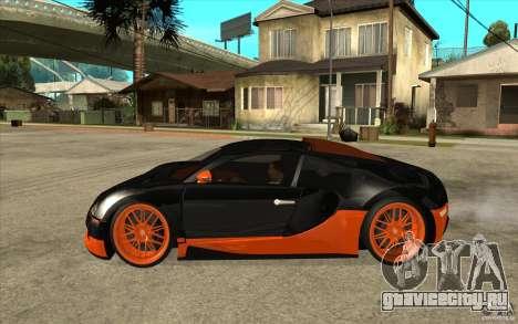 Bugatti Veyron Super Sport 2011 для GTA San Andreas вид сзади слева