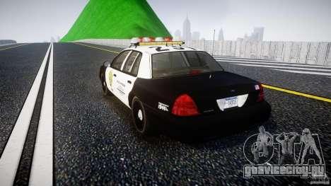 Ford Crown Victoria Raccoon City Police Car для GTA 4 вид сзади слева