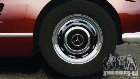 Mercedes-Benz 300 SL Roadster v1.0 для GTA 4 вид снизу