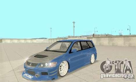 Mitsubishi Lancer Evolution IX Wagon MR Drift для GTA San Andreas