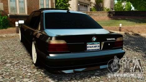 BMW 750iL E38 Light Tuning для GTA 4 вид сзади слева