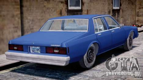 Chevrolet Impala 1983 [Final] для GTA 4 вид снизу