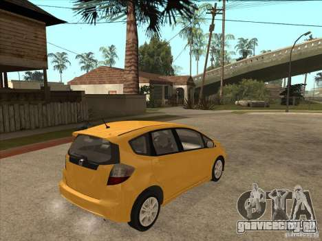 Honda Jazz (Fit) для GTA San Andreas вид справа