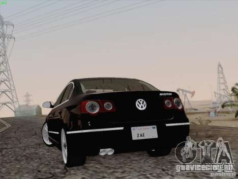 Volkswagen Magotan 2011 для GTA San Andreas вид изнутри