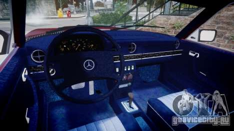 Mercedes-Benz 230E 1976 Tuning для GTA 4 вид сзади