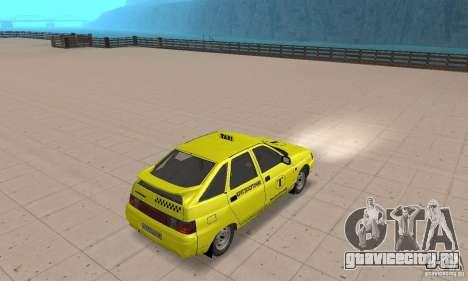 ВАЗ 21124 ТАКСИ для GTA San Andreas вид слева