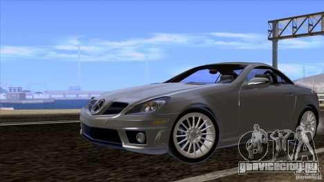 Mercedes-Benz SLK 55 AMG для GTA San Andreas вид сзади слева