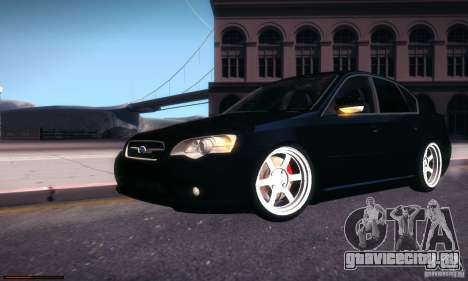 Subaru Legacy BIT edition 2004 для GTA San Andreas вид сверху