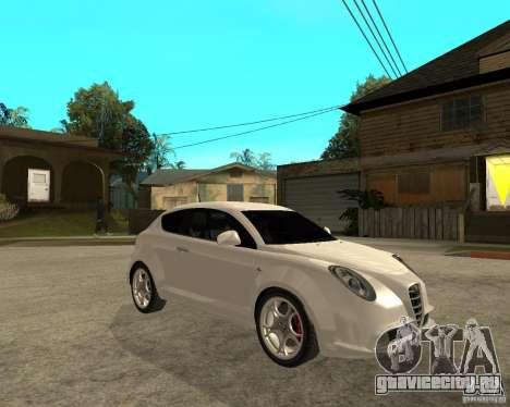 Alfa Romeo Mito для GTA San Andreas вид справа