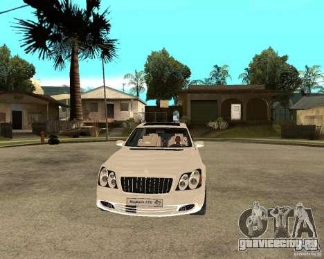 Maybach 57 S для GTA San Andreas вид сзади