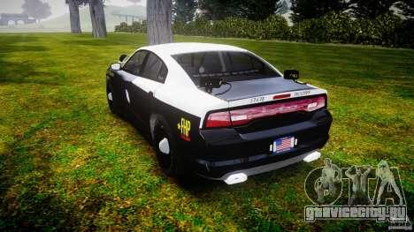 Dodge Charger 2012 Florida Highway Patrol [ELS] для GTA 4 вид сзади слева