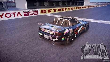 Honda S2000 Tuning 2002 Skin 1 для GTA 4 вид сверху
